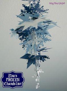 Elsa Frozen Chandelier made with the Silhouette / by www.BusyMomsHelper.com #Frozen #Elsa #DIY