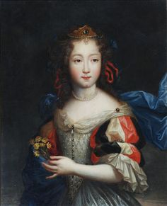 This is a portrait of a noble girl during the century. The children used the same styles as the adults of their region and class. Therefore, this girl's dress is something that an older noble woman would wear. 17th Century Fashion, 17th Century Art, Renaissance Era, Gothic, Historical Art, Glamour, Women In History, Ancient Art, Painting & Drawing