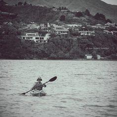 kayaking bw