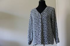 Black and White Floral Blouse by MelancholyinMe on Etsy, $32.00