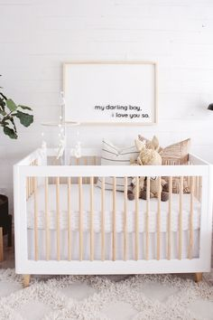 Modern Boho Neutral Nursery Reveal | house of hire
