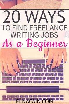 Are you interested in writing? Here is a list of 20 quality ways to find freelance writing jobs! A year ago I was just a mom to twins. Now I have a booming freelance writing business. I quickly learned all the BEST ways to land well-paying free Make Money Writing, Make Money Blogging, Writing Tips, Creative Writing, Earning Money, Blogging Ideas, Writing Prompts, Writing Websites, Improve Writing