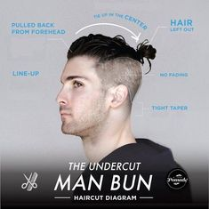 Men's Undercut Hairstyles – 30 New Undercut Styles Trending Man Bun Undercut, Man Bun Haircut, Undercut Styles, Undercut Pompadour, Undercut 2016, Undercut Fade, Pulled Back Hairstyles, Hipster Hairstyles, Side Hairstyles