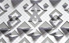 Triangular Paper Cut Detail