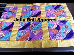 """SCROLL DOWN TO THE SEE THE Next Page Highlighted in Larger Color Text to See the Video Tutorial """"Quilt Squares Using Jelly Rolls"""" Jelly Rolls Turned into Square Quilt Blocks! Details on Jelly Roll Fabric Preparation. Each Jelly Roll has a variety of Fabric based on a common theme. Jelly Rolls are a great way …"""
