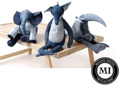 Recycled Denim Animals