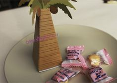 Factory wholesale Palm Tree Candy Bags TH014 Wedding favor box and baby shower Gift