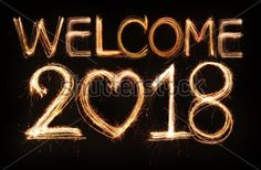 Welcome 2018 💖 Goodbye Words, Welcome 2016, Sparklers Fireworks, Creating A Vision Board, Happy New Year 2018, Start Ups, Quotes About New Year, Holiday Pictures, New Years Eve Party