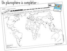 Site Photo, Les Continents, Cycle 3, Teacher Organization, Diagram, Map, Teaching Ideas, Kids Art Activities, Learn English