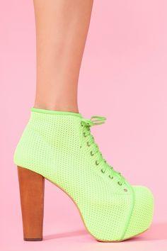 Lita Platform Boot - Lime Mesh
