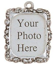 Blue Moon Metal Photo Frame Charm - 3PK/Silver