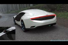 the Audi A9 concept car back side