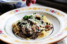 Pasta with Bacon and Mushroom by Ree Drummond / The Pioneer Woman, via Flickr