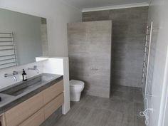 Modern bathroom tiling, concrete bench top , Perth WA,  Lopresti Tile & Stone