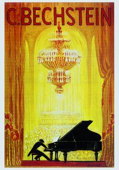 Affiche publicitaire pour la manufacture allemende de pianos C. Bechstein, réalisée aux environs de 1920 par Bruno Bielefeld ==>  https://fr.wikipedia.org/wiki/Bechstein
