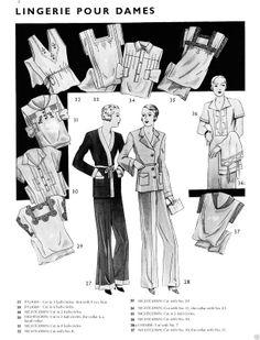 1934 Basic Eclair Coupe Paris Pattern Book Reprint Men Women Child Clothes | eBay