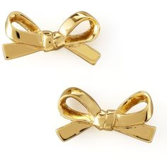 kate spade new york Mini Bow Stud Earrings, Gold found on Polyvore