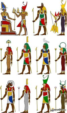 Egyptian Gods and Goddesses by ReaperClamp on deviantART | sketch ...