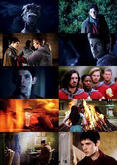 Merlin. And then Lancelot was dead. <--- WHY??????????? *sobs* LANCELOOOOOOTTT!!!!! {Favorite character....next to Merlin that is}