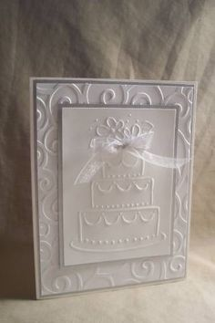 Embossed Silver White Wedding by happy2stamp4ever - Cards and Paper Crafts at Splitcoaststampers