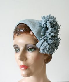 Chapeau Jules Vintage New Navy Hat Velvet Feathers Ascot Goodwood Wedding Fascinator 1940s And Veil