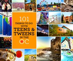 entertaining teens and tweens can be hard!most of the time, they just want to be with their friends or playing on theirelectronic devices or social media. they're too big to play on park playgrounds and a lot of the activities on mylist of101 Kid-friendly Things to do in Orange Countyaren't geared toward this age range. Read More...
