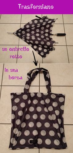 Borsa da ombrello rotto tutorial Cosplay Tutorial, Diy Tutorial, Make Do And Mend, Patchwork Bags, Handmade Bags, Purses And Bags, Diy And Crafts, Sewing Projects, Knitting