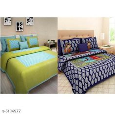 Bedsheets Trendy Cotton 90X100 Double Bedsheets  Fabric: Cotton No. Of Pillow Covers: 4 Thread Count: 170 Multipack: Pack Of 2 Sizes: Queen (Length Size: 100 in Width Size: 90 in Pillow Length Size: 27 in Pillow Width Size: 17 in) Country of Origin: India Sizes Available: Queen   Catalog Rating: ★4 (490)  Catalog Name: Attactive Cotton 100X90 double Bedsheets vol 2 CatalogID_758007 C53-SC1101 Code: 896-5134977-7971