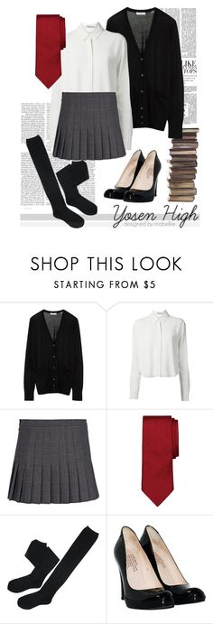 """Yosen High (Female)"" by mabelliie ❤ liked on Polyvore featuring Equipment, T By Alexander Wang, Dsquared2, Brooks Brothers, Pedro García, uniform, KurokoNoBasuke, knb and yosen"
