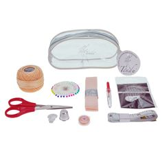 Tendu T1025 Ultimate Dancers Sewing Kit.  Everything a dancer could need to prepare her shoes:- Scissors Tape measure Pins Curved darning needles and Straight sewing needles Thimble Unpicker 2.6 m Pointe Ribbon Set Roll of Darning Thread Sewing Thread  www.dancinginthestreet.com Thread Size Chart, Dance Accessories, Dance Tights, Sewing Needles, Wrist Warmers, Sewing Kit, Thimble, Darning, Tape Measure