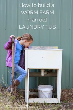 How to build a worm farm in an old laundry tub