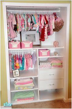 Baby nursery closet organizer room organization ideas storage walk in,baby closet Baby Bedroom, Nursery Room, Girl Nursery, Girl Room, Girls Bedroom, Child Room, Nursery Ideas, Bedrooms, Bedroom Wall