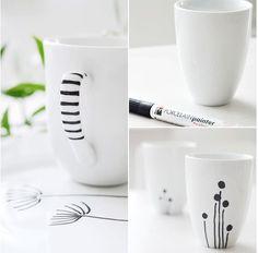 DIY cadeaux de noel tasses et mug en porcelaine customisés