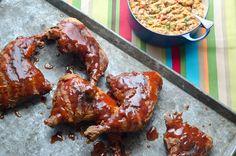 Smokey goodness and crunchy fried wonderfulness. Bbq Fried Chicken, Tandoori Chicken, Yummy Chicken Recipes, Yum Yum Chicken, Bar B Q, Food Displays, Food Words, Pork Ribs, Chicken Wings