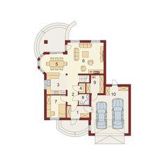 DOM.PL™ - Projekt domu DA Swetoniusz 2 CE - DOM DS2-37 - gotowy koszt budowy Little Houses, Architecture Design, House Plans, Floor Plans, House Design, How To Plan, Luxury, Holiday Decor, Home Decor