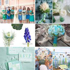 Ocean Blues Wedding Inspiration - Wedding Flower Trends for Summer and Fall 2014! http://blog.fiftyflowers.com/wedding-flower-trends-for-summer-and-fall-2014/