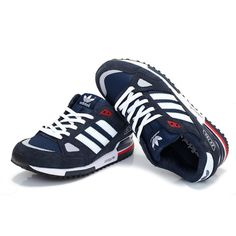 best website 6f8db fc1ac Men s Women s Adidas Originals ZX 750 Shoes Navy Blue White