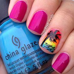 30 Inspiring Beach Nail Art Designs Ideas Trends Stickers 2014 6 30 + Inspiring Beach Nail Art Designs, Ideas, Trends & Stickers 2014