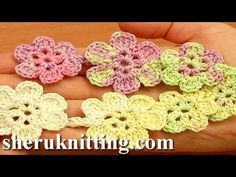 Crochet Cord With Flowers Tutorial 54 Crochet Floral Necklace