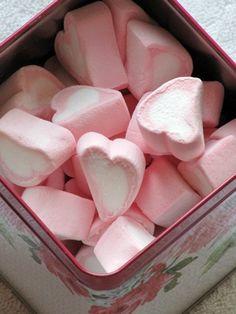 Hearts ~ pink marshmallows <3