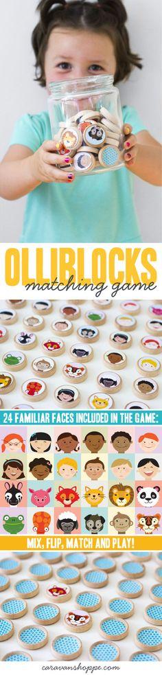 Olliblocks Matching Game| A matching game from Caravan Shoppe!