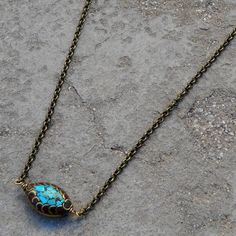 Tibetan evil eye bead chain necklace by lovepray on Etsy