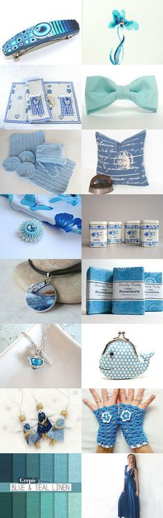 Blue elegant. by Yelena C on Etsy--Pinned with TreasuryPin.com