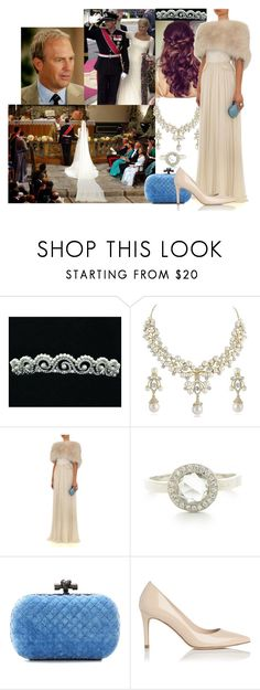 """""""Flashback_Attending the wedding of her godbrother Crown Prince Haakon of Norway and Mette-Marit Tjessem Høiby with her father"""" by princessofpeople ❤ liked on Polyvore featuring Retrò, Elie Saab, Bottega Veneta and L.K.Bennett"""