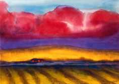View Marschlandschaft mit Bauernhof (Circa By Emil Nolde; watercolour on Japan paper; Access more artwork lots and estimated & realized auction prices on MutualArt. Emil Nolde, Edvard Munch, Watercolor Landscape, Abstract Landscape, Kandinsky, Ciel, Vincent Van Gogh, Oeuvre D'art, Land Scape