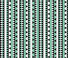 Triangle Check Mint Stripe fabric by pond_ripple on Spoonflower - custom fabric