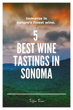 Top 5 bests wine tastings in Sonoma County. Skip Napa and head to the West Coast of Wine Tasting. Sonoma Wineries, Napa Sonoma, Sonoma County, Sonoma Valley, Napa Valley, Sonoma California, California Travel, Wine Club Membership, Wine And Food Festival