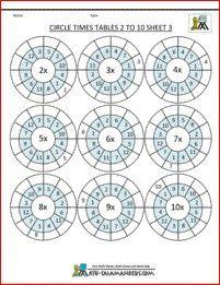 printable multiplication sheets circle times tables 2 to 10 3 Free Printable Multiplication Worksheets, Multiplication And Division Worksheets, Math Multiplication Worksheets, Free Worksheets For Kids, Math Games For Kids, 3rd Grade Math Worksheets, Math Math, Math Activities, 2 Times Table Worksheet