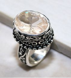 'Vintage Style Honey Topaz Sterling Silver Ring' is going up for auction at 11am Sat, Nov 10 with a starting bid of $5.