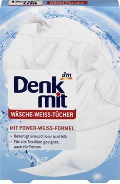 Die Wäsche-Weiß-Tücher von Denkmit entfernen sichtbar Grauschleier und Gilb aus weißen Textilien. Die auf den Tüchern gebundenen Wirkstoffe werden bei der...
